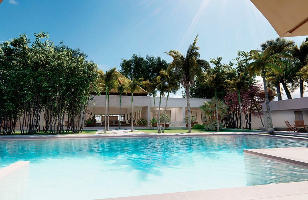 Alberca Semi olímpica - Casa en Playa del Carmen - Bali HU Lifestyle