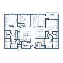 2 Bedroom Apartment + Den