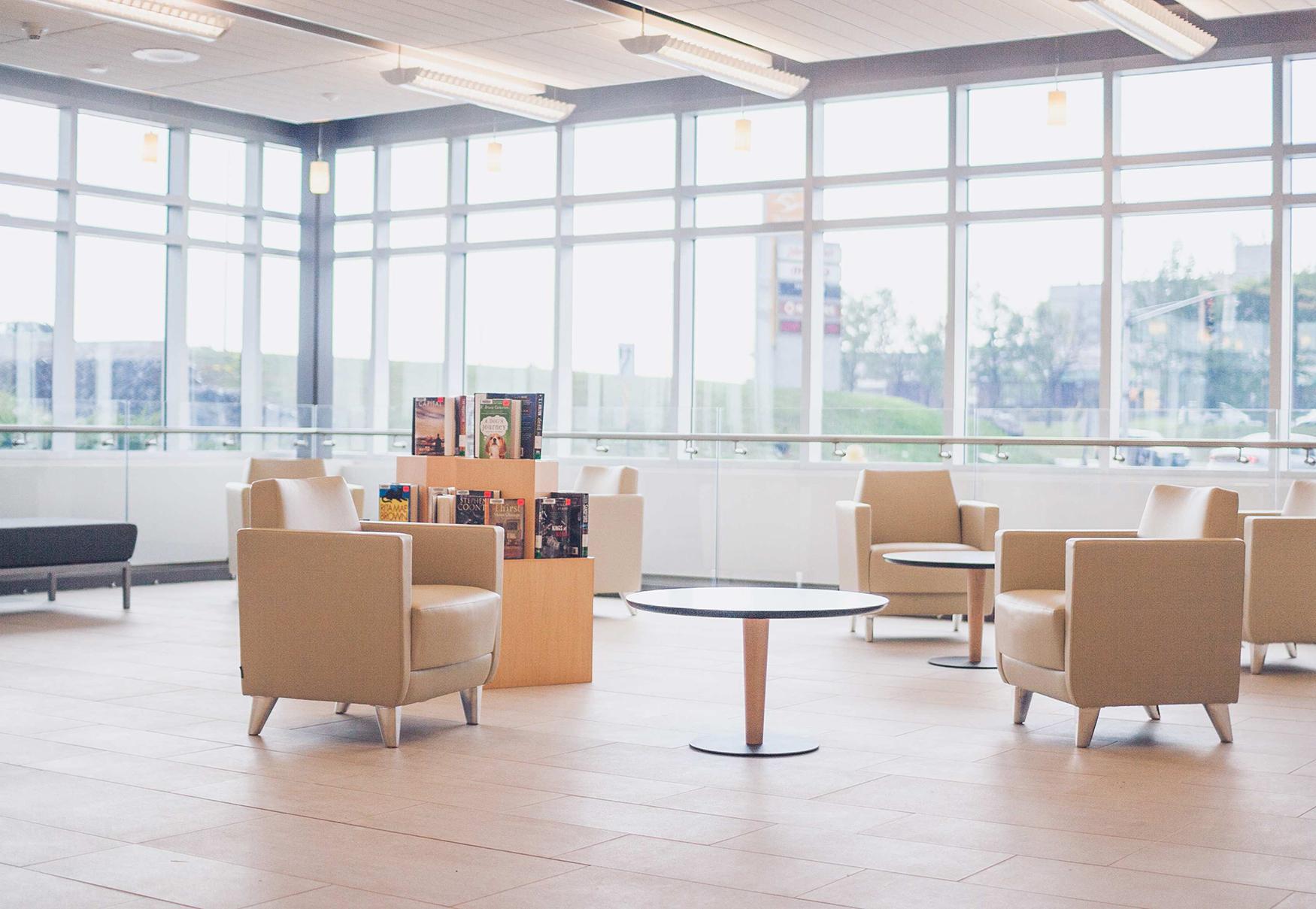 Satori chairs at South End Sudbury Public Library
