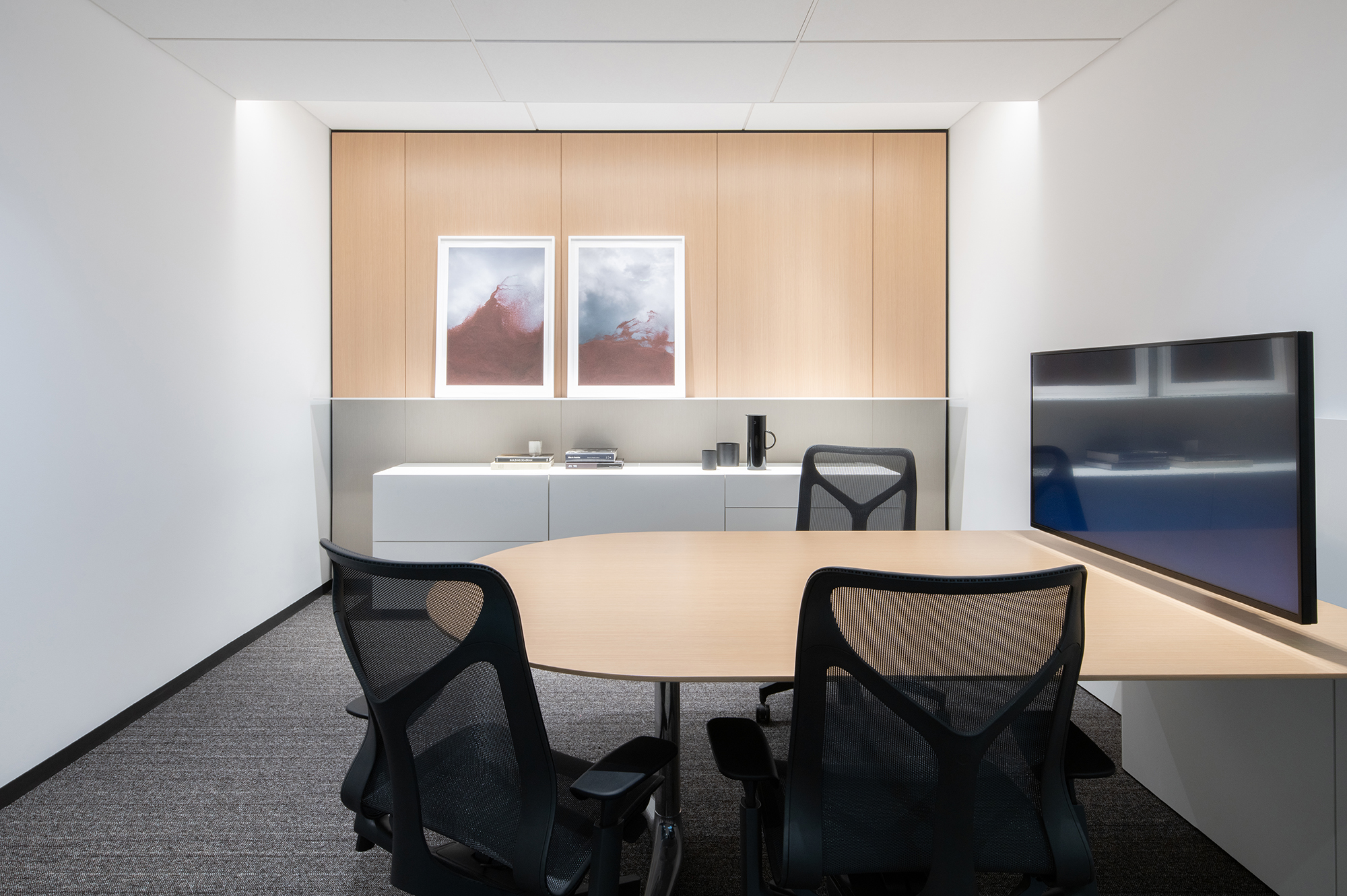 Gateway Wall Mounted Table for a bank project in Montreal