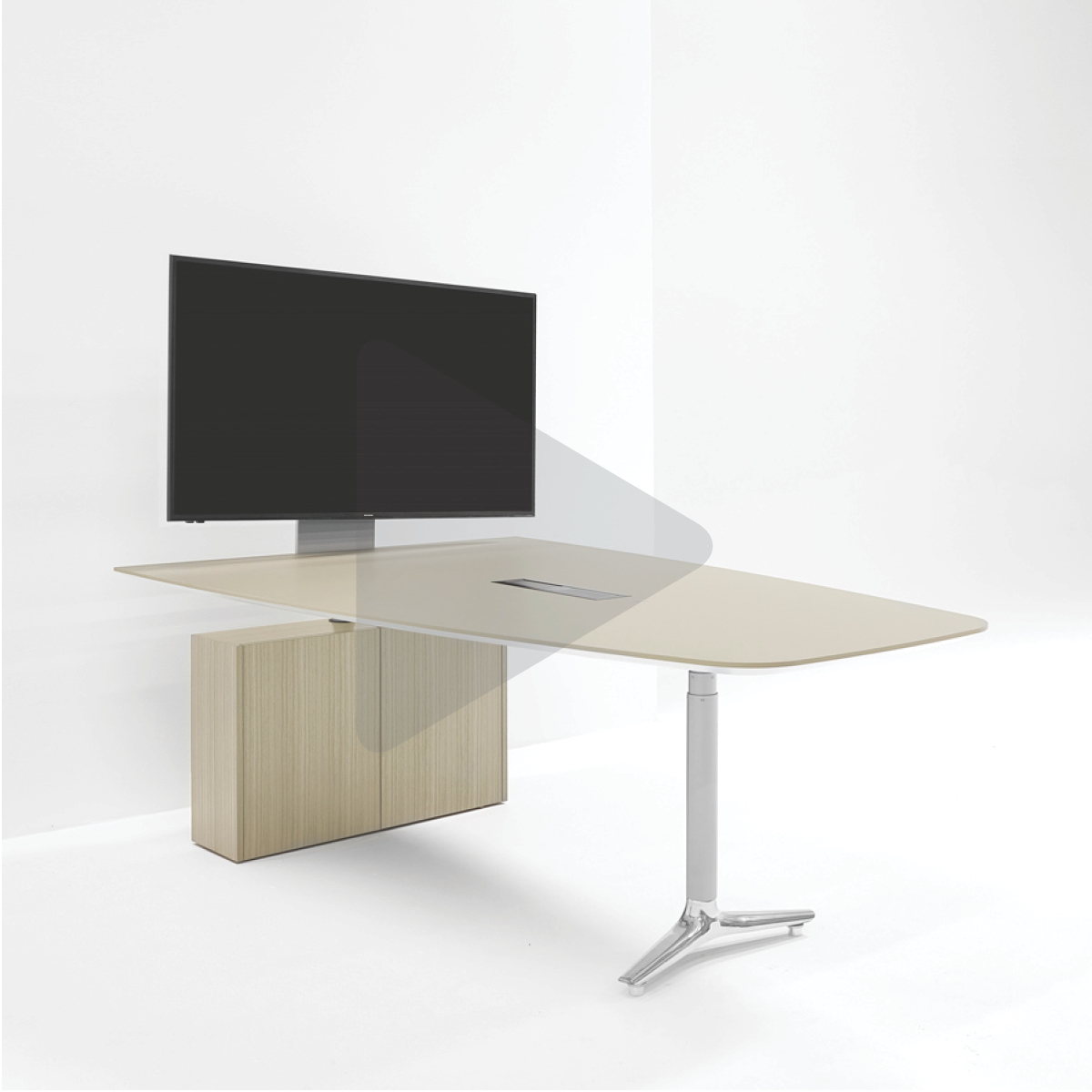 Nienkamper Height Adjustable Table with Access Base