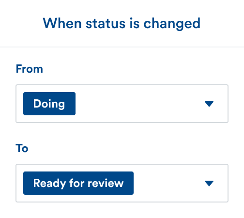 When status is changed