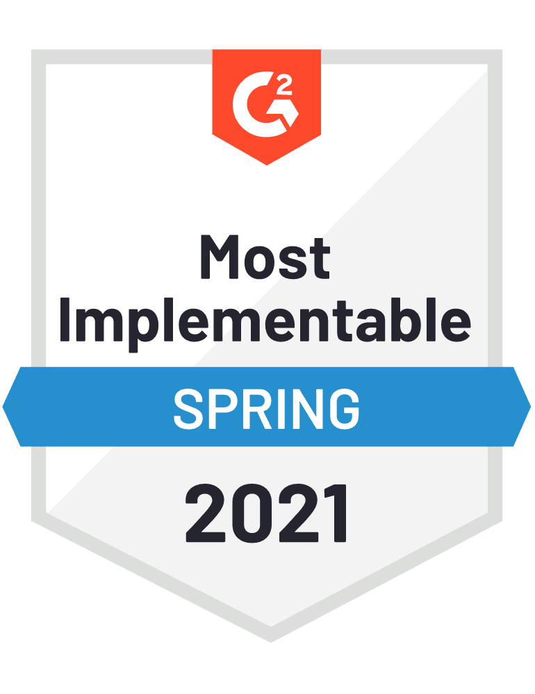 G2: Easiest To Use - Small Business - Fall 2020