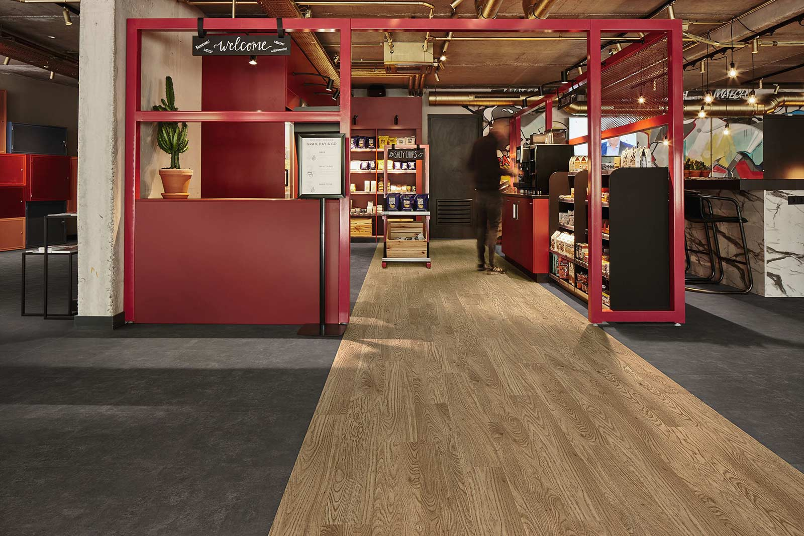 Vinylboden - Nero Concrete - Ansicht 2