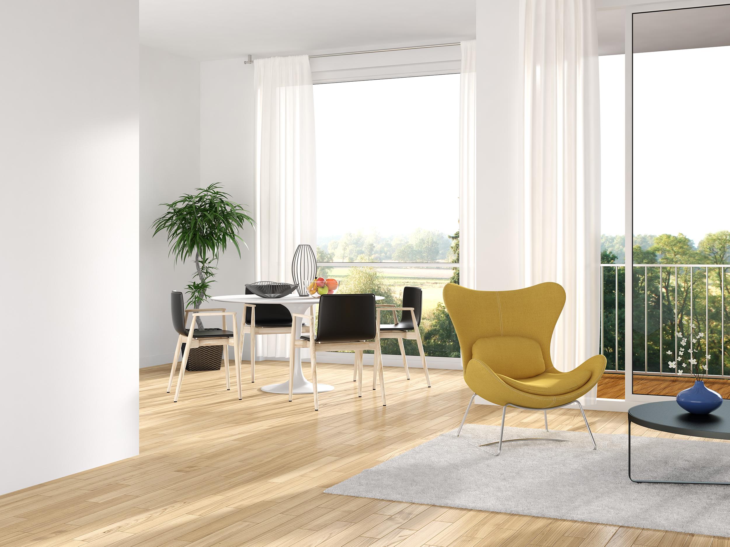 Esszimmer Holzboden