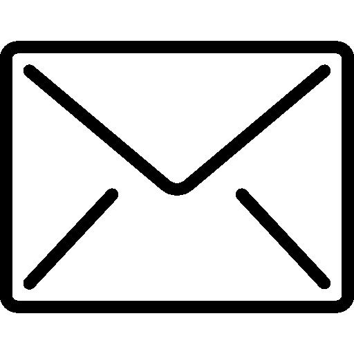Email Symbol schwarz