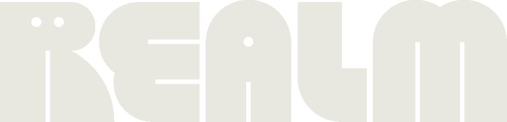 Realm logo medium, eggshell