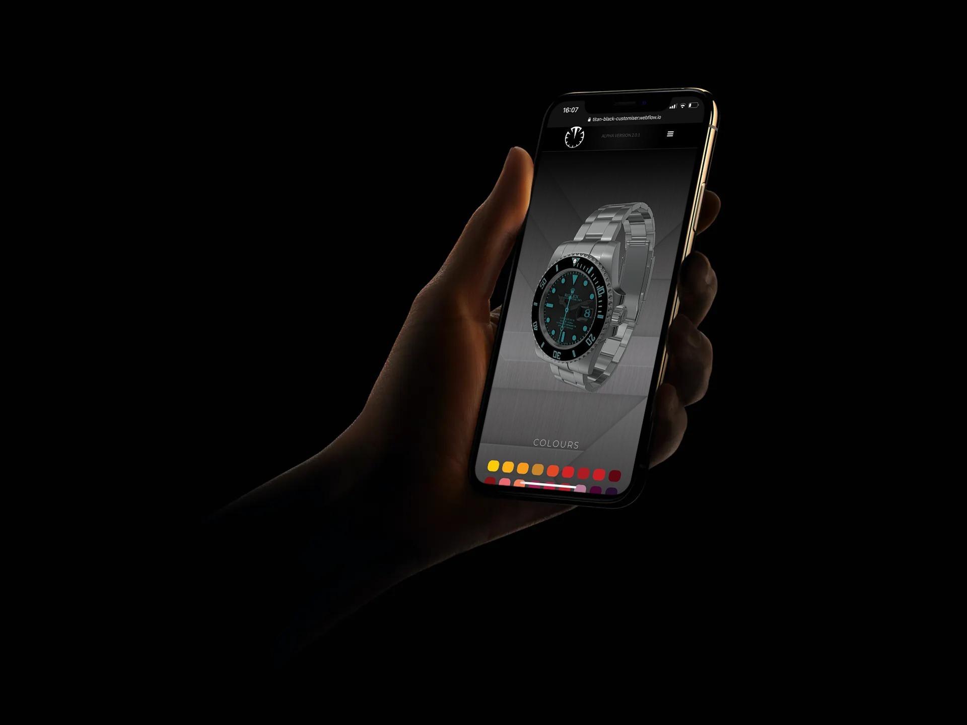 Mobile 3D watch Configurator