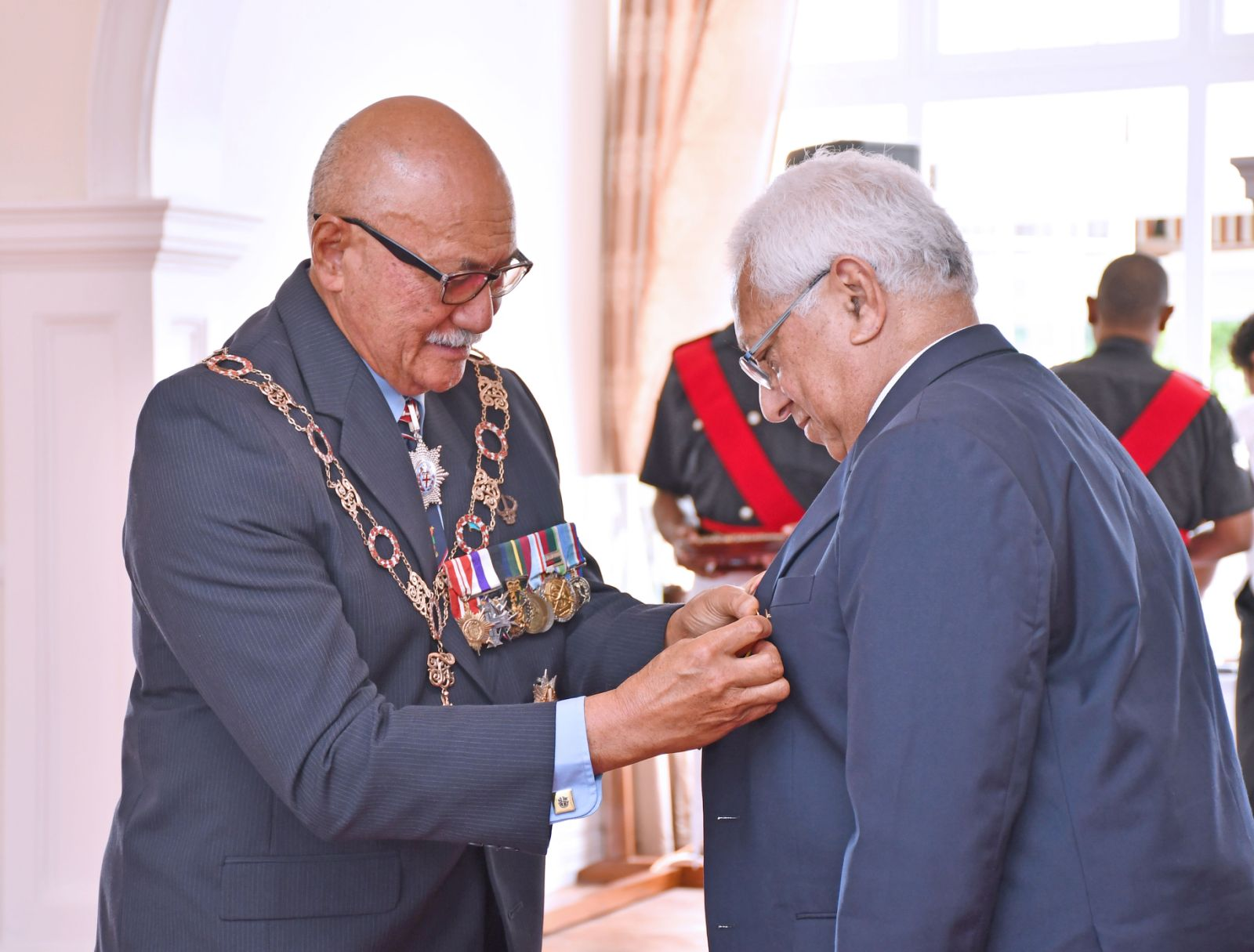 Dr Mitchell awarded Fiji's 50th independence anniversary medal for his sporting legacy