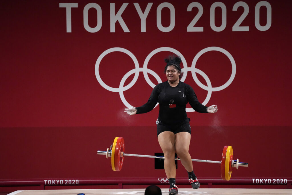 Tongan weightlifter competes against the world's best
