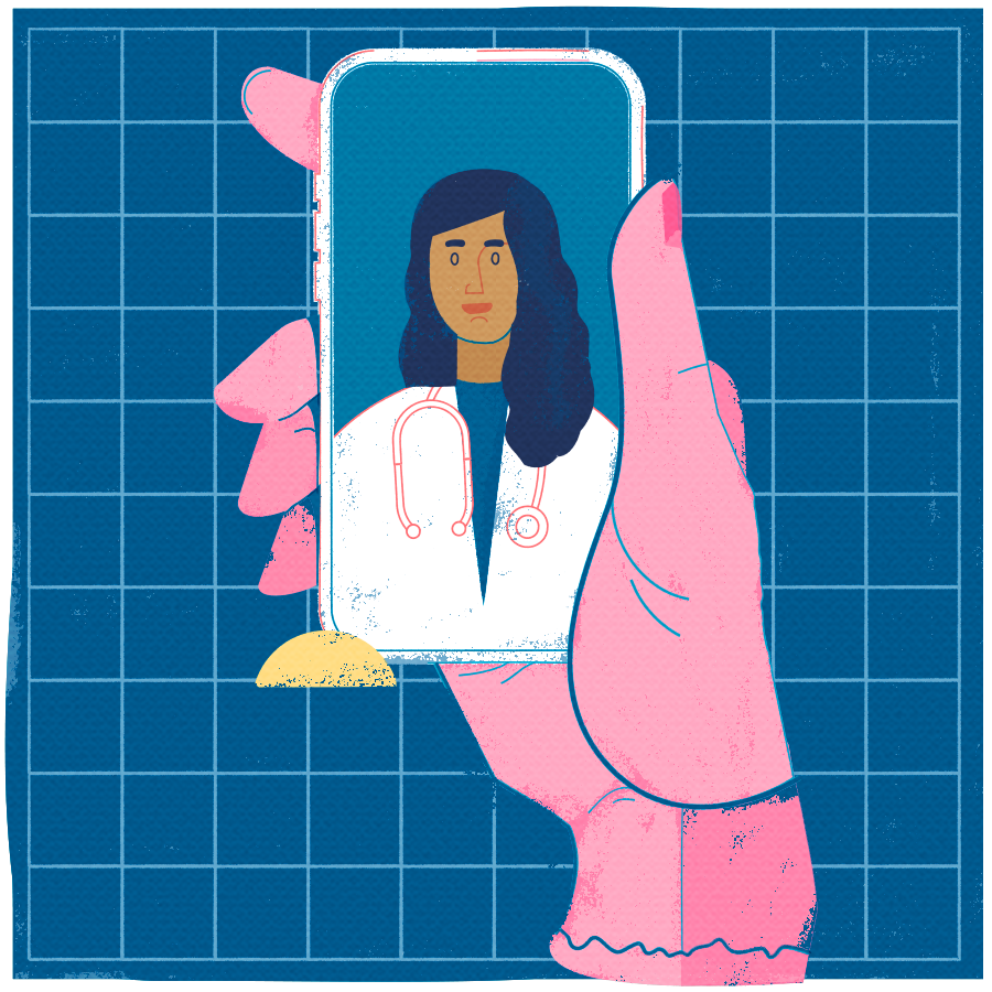 Picture of a Virtual Care appointment