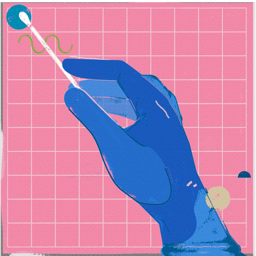 Picture of Nasal Swab test