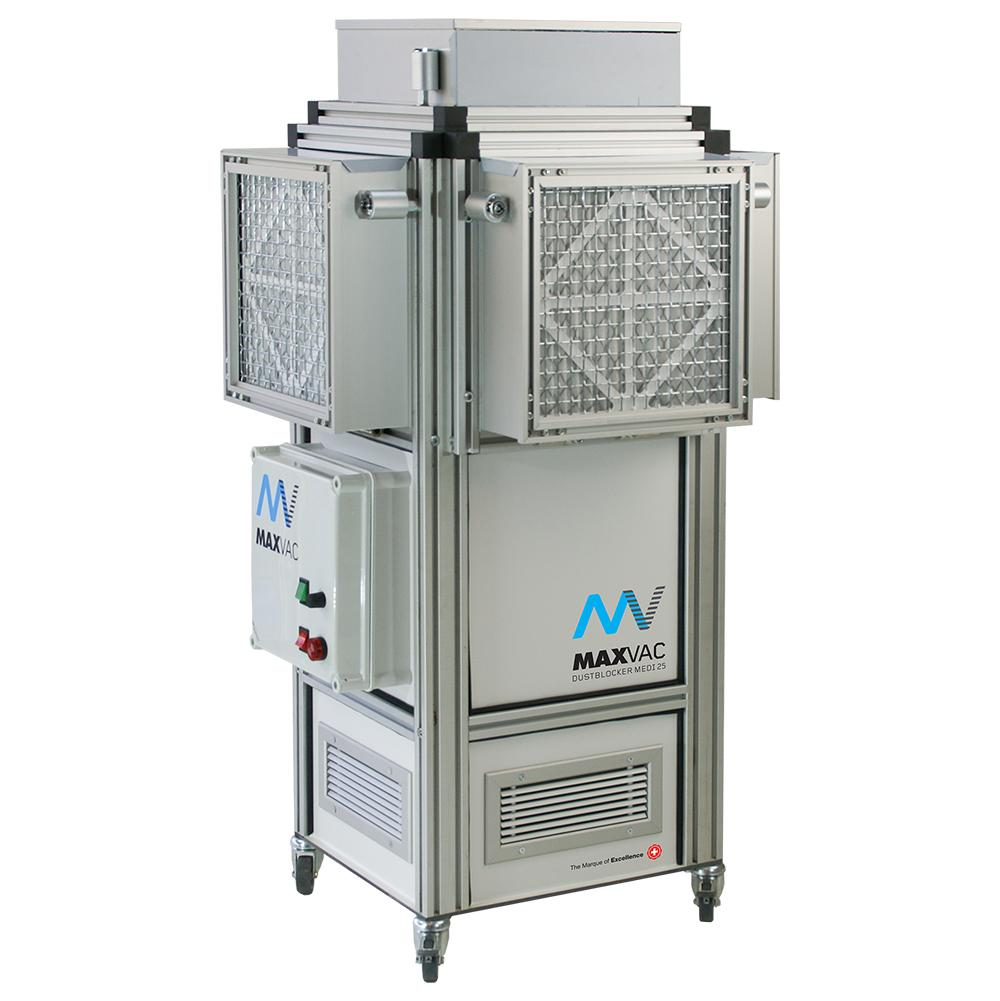 UV-C Air Purifier with 500 - 2'000m3/h Airflow - MAXVAC MEDI 25 Virus Steriliser