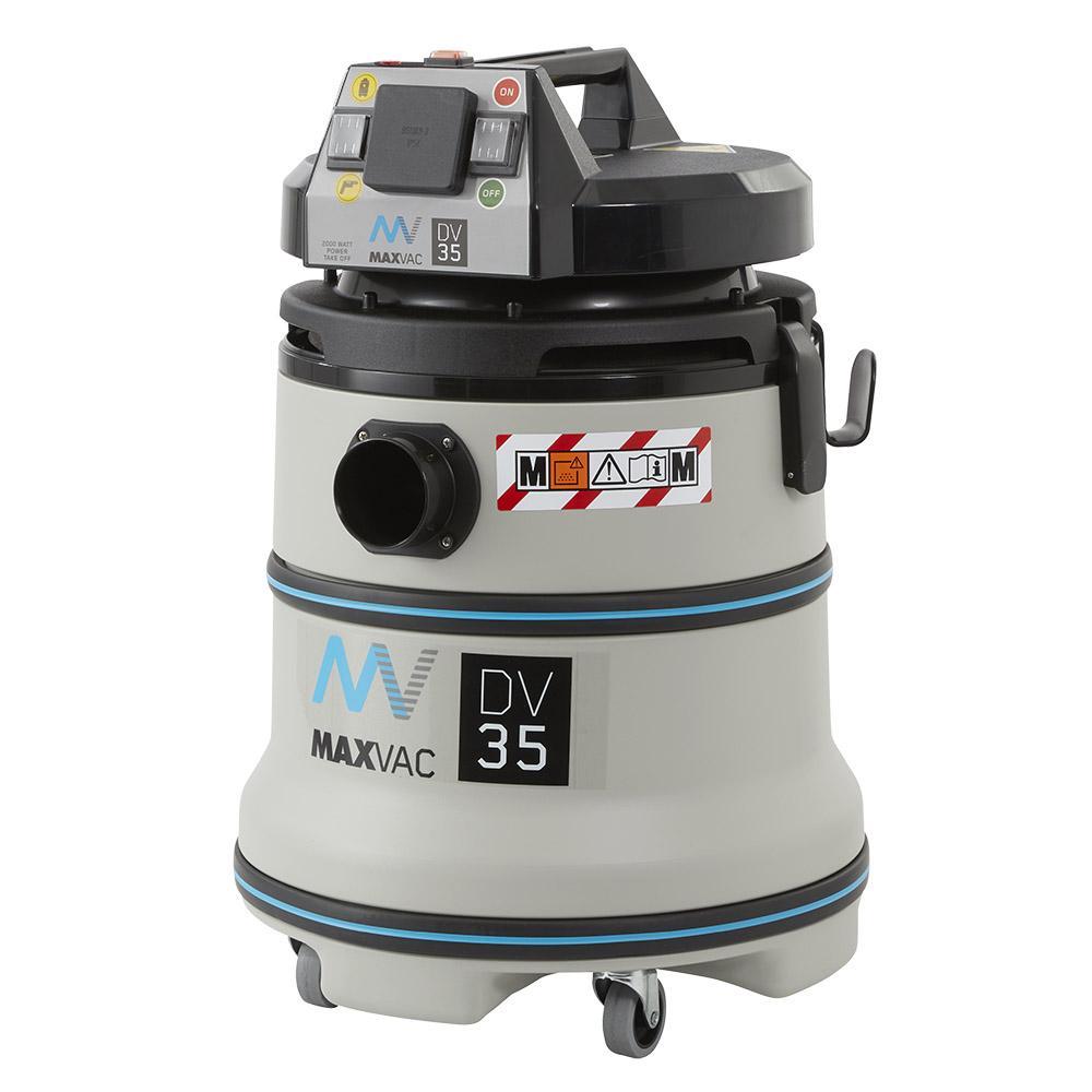 MAXVAC Dura M-Class 35Ltr Wet/Dry Vacuum with Manual Filter-Clean 110V DV35-MB