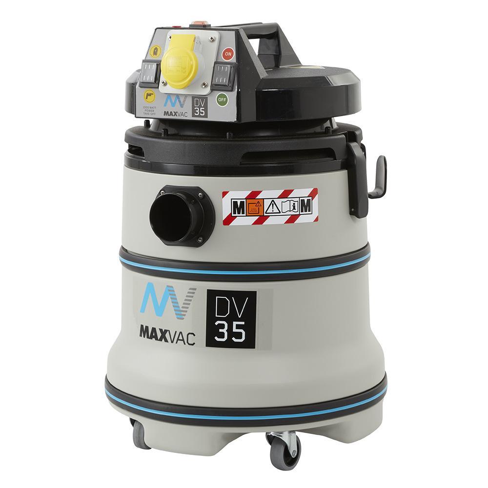 MAXVAC Dura M-Class 35Ltr Wet/Dry Vacuum with Manual Filter-Clean 230V DV35-MB