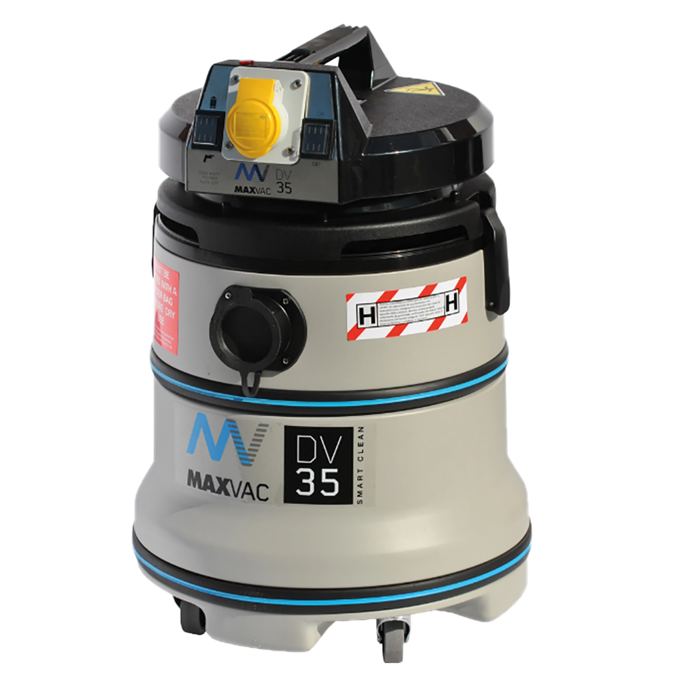 Certified H-Class 35L Vacuum with SMARTclean Filter Function - 230V MAXVAC Dura DV35-HBA