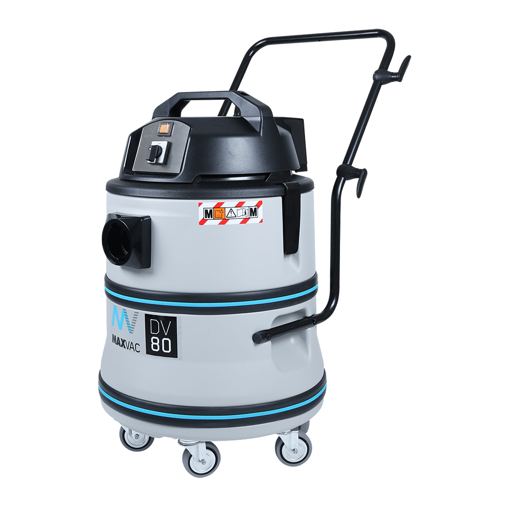 Powerful Twin-Motor 80 Litre Wet/Dry 230V Vacuum, Ideal for Large Cleanup Operations MAXVAC DV80-LBN