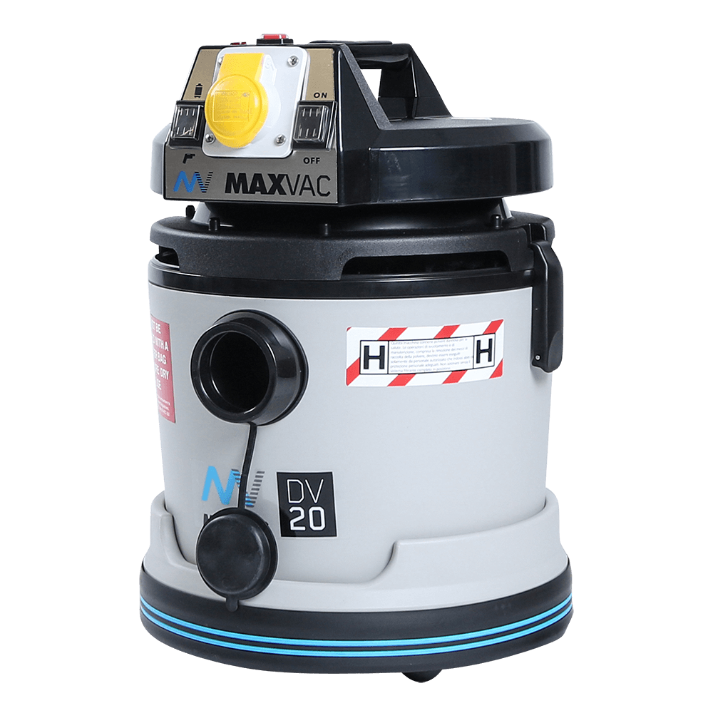Certified H-Class 20L Vacuum with SMARTclean Filter Function - 110V MAXVAC Dura DV20 HBA