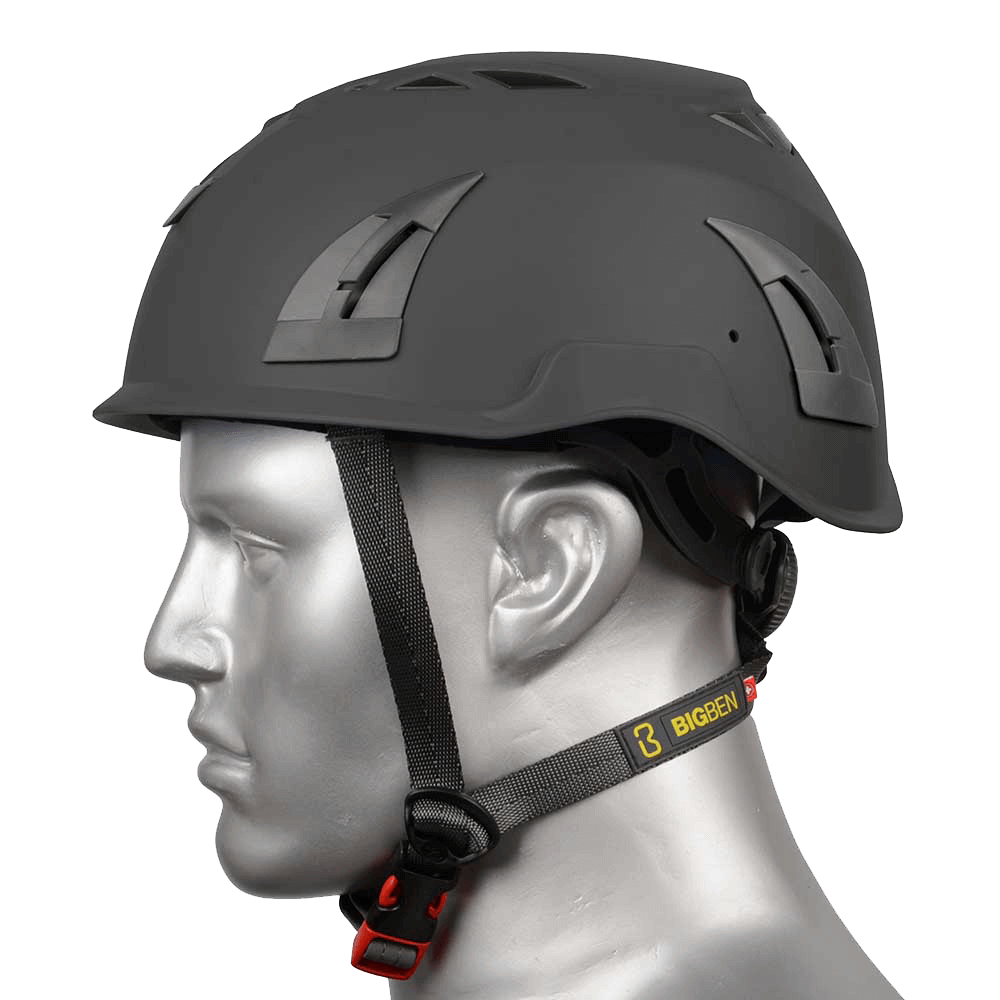 BIG BEN Ultralite Vented Height Safety Helmet, Black