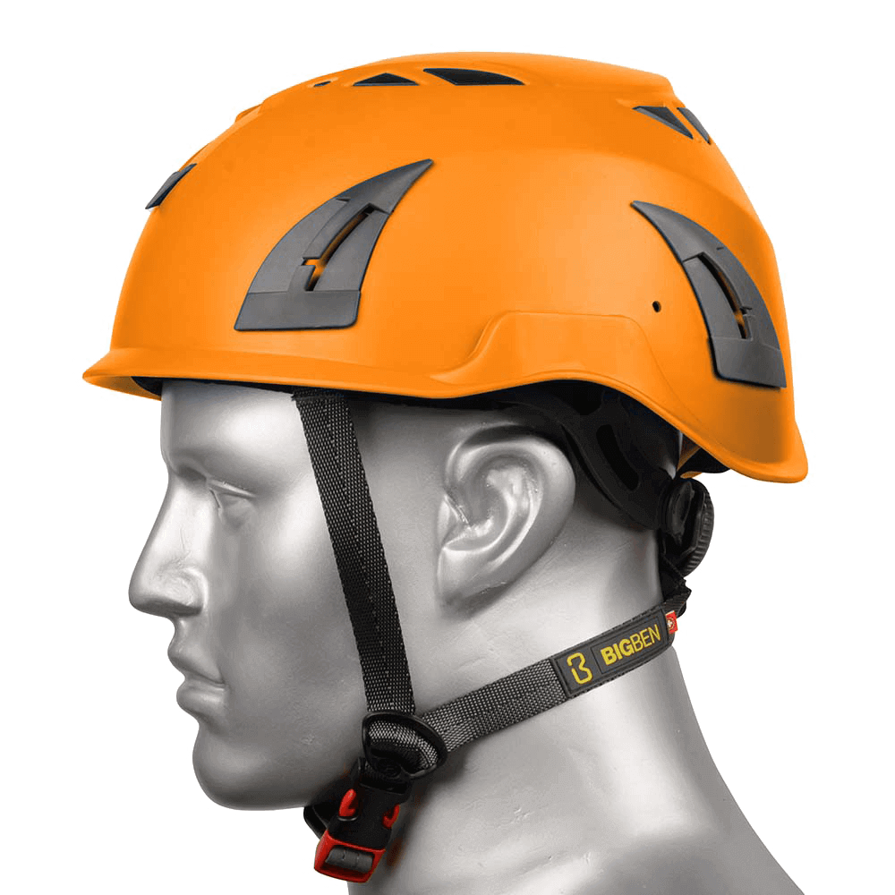 BIG BEN Ultralite Unvented Height Safety Helmet, Orange