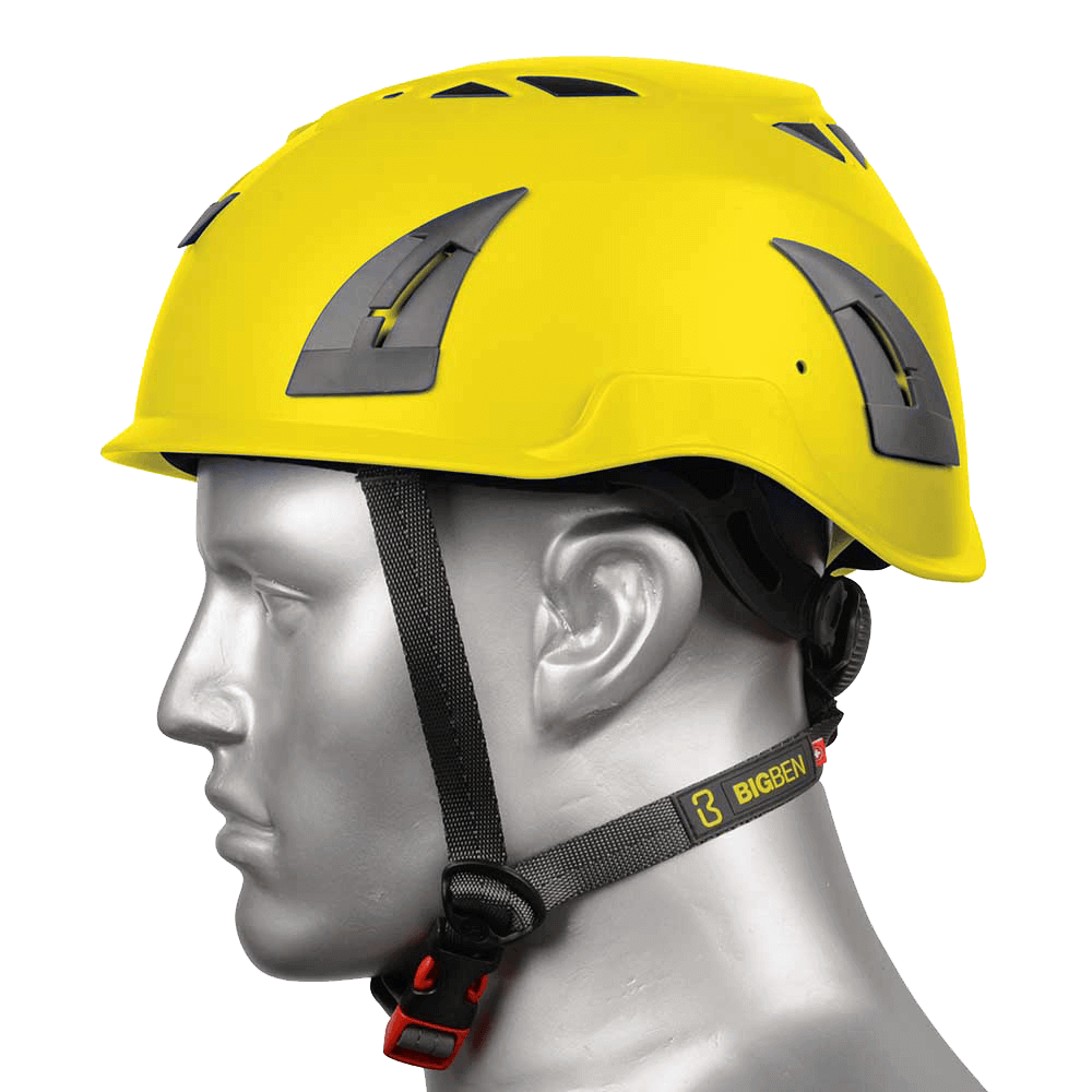 BIG BEN Ultralite Vented Height Safety Helmet, Yellow