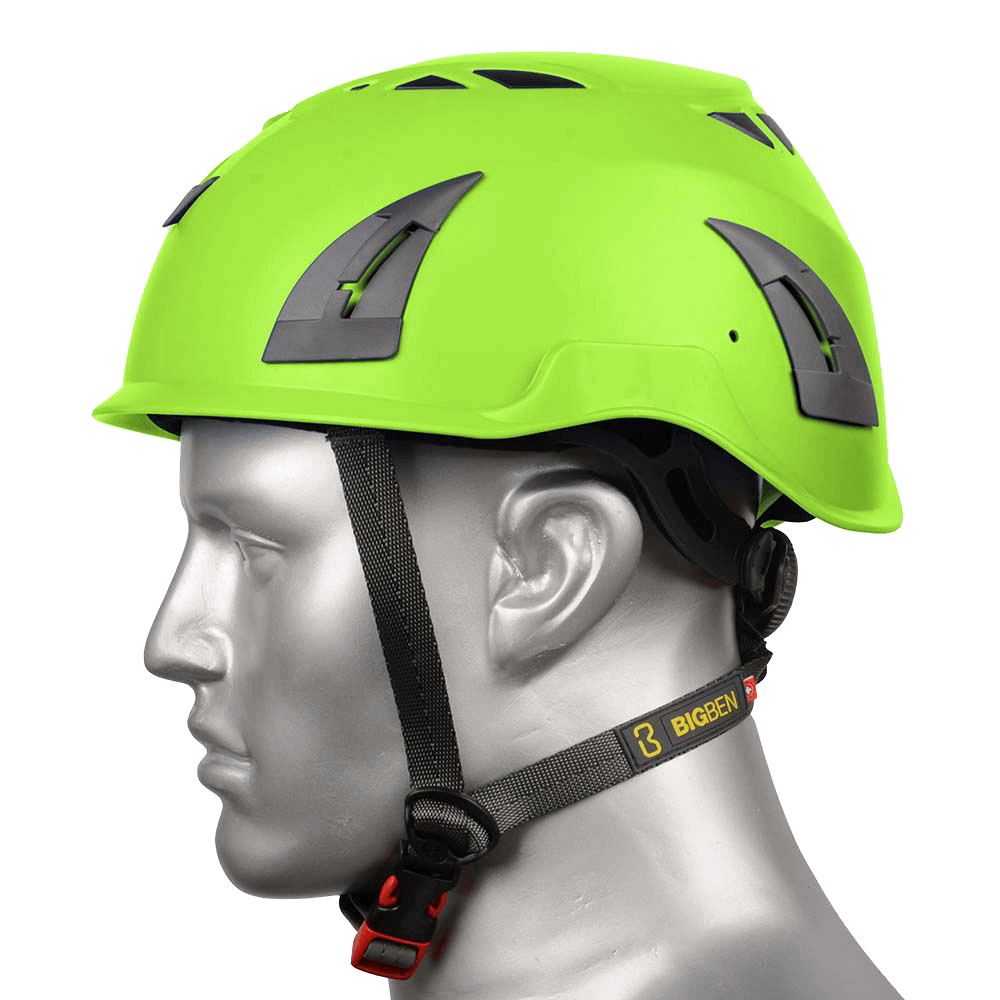 BIG BEN Ultralite Vented Height Safety Helmet, Green