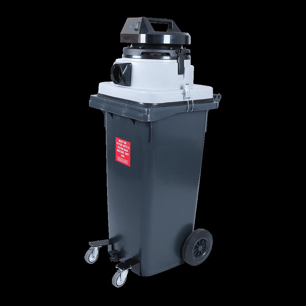 Wheelie Bin 120ltr Wet Vacuum MAXVAC Dura DV120-WBM