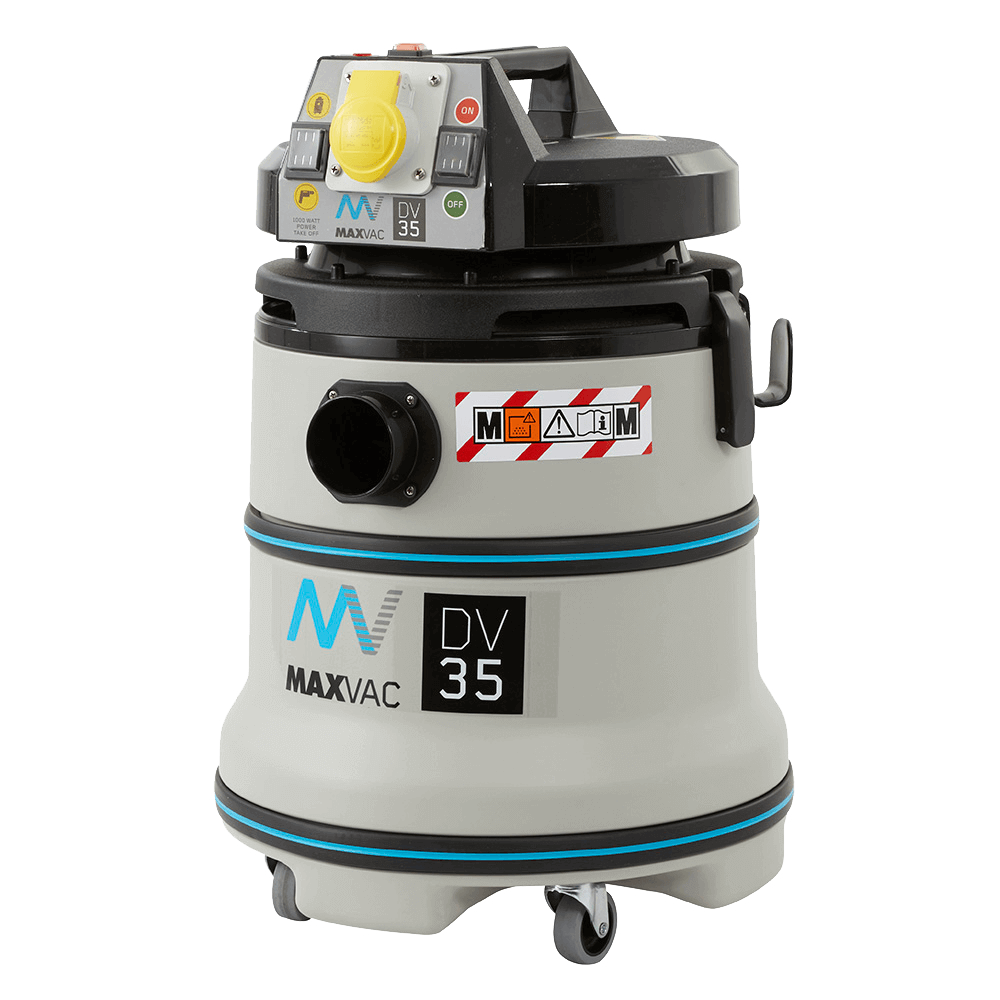 MAXVAC Dura M-Class 35Ltr Wet/Dry Vacuum with Manual Filter-Clean 110V DV35-MB