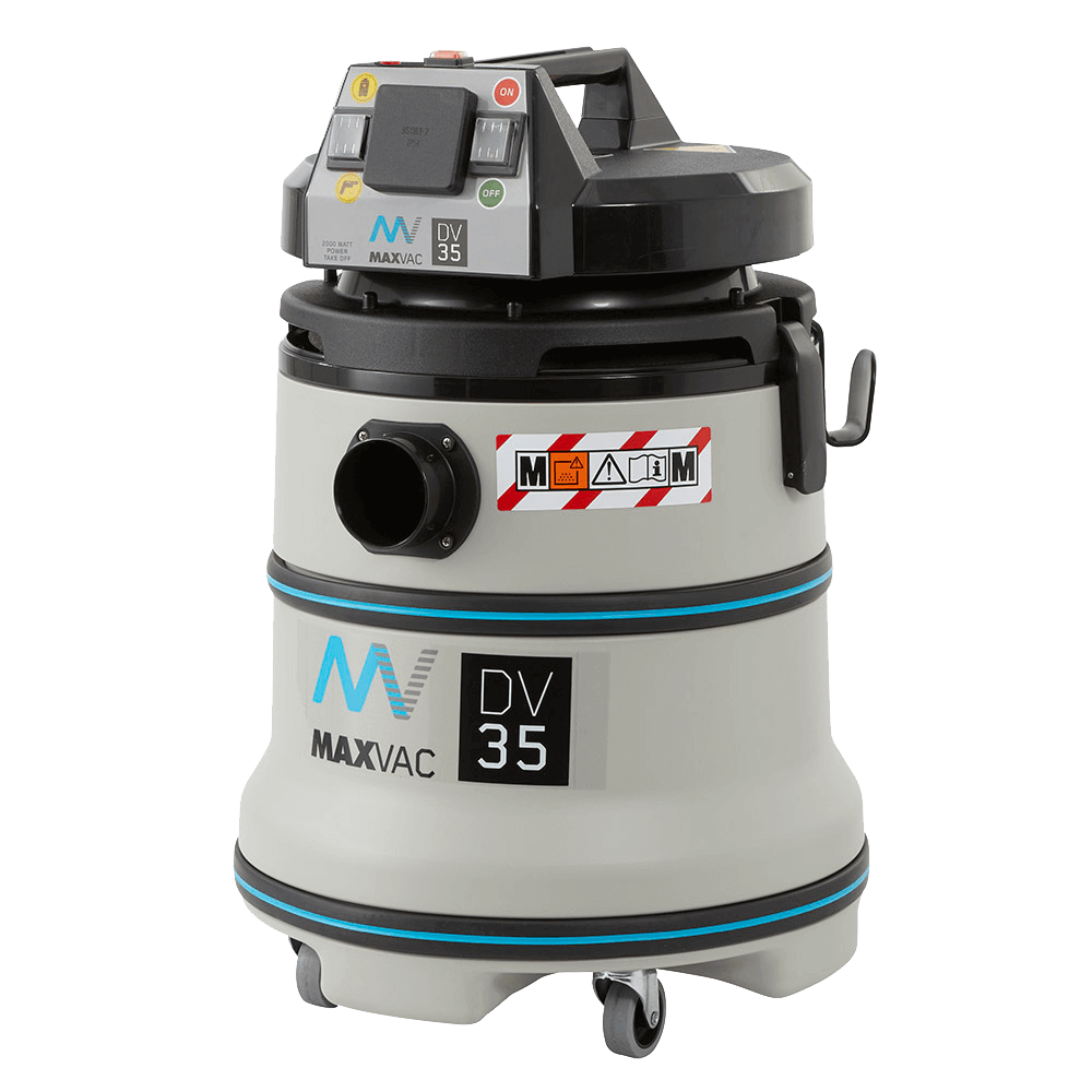 MAXVAC Dura M-Class 35Ltr Wet/Dry Vacuum with Manual Filter-Clean 230V DV35-MB