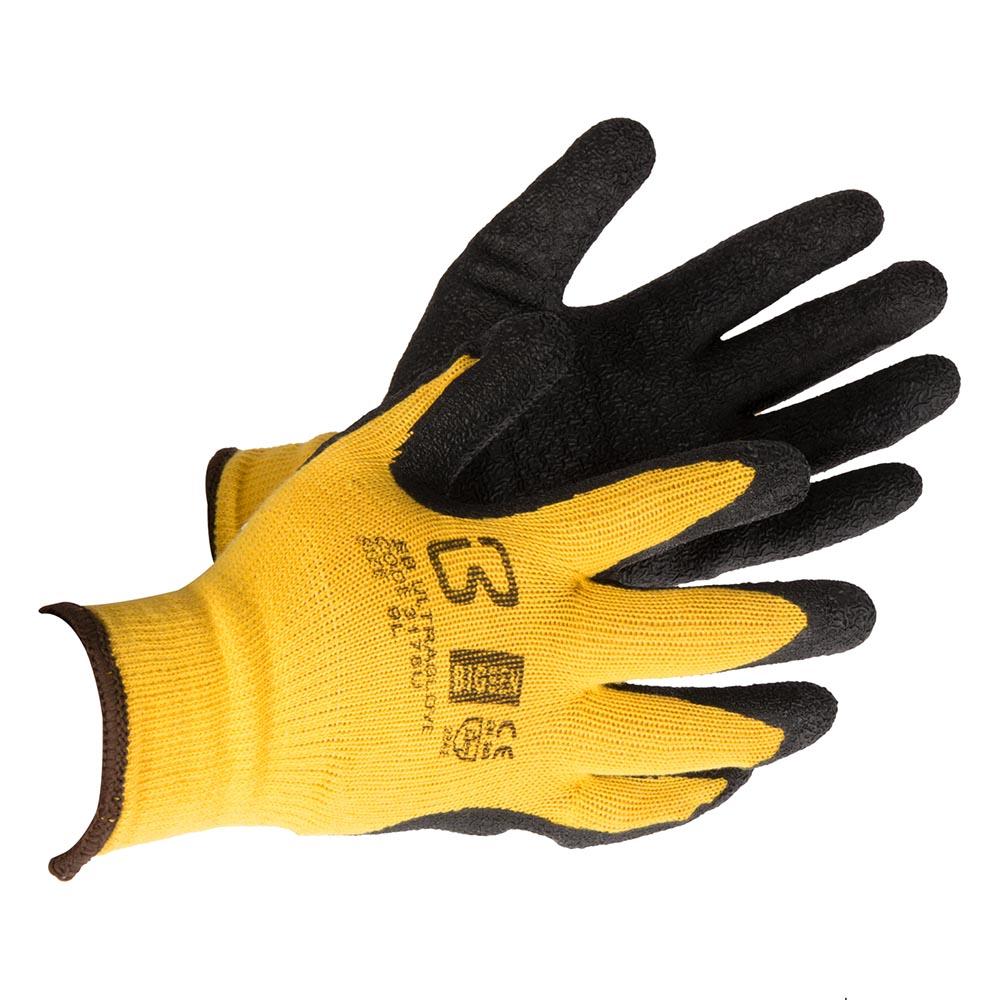 BigBen Ultra Yellow/Black Gloves, pack of 10