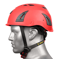 BIG BEN Ultralite Vented Height Safety Helmet, Red