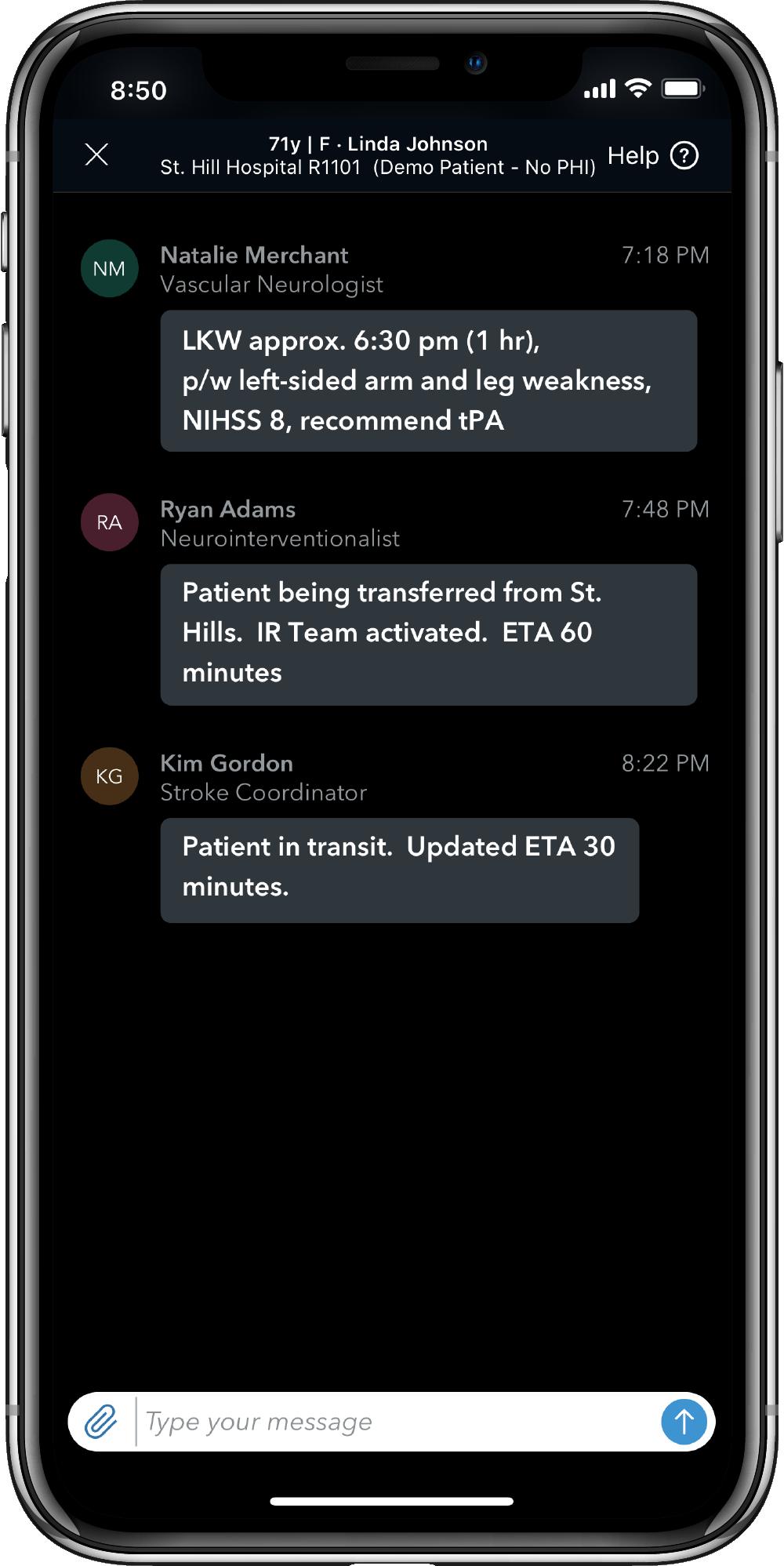 Viz HUB in a mobile device.
