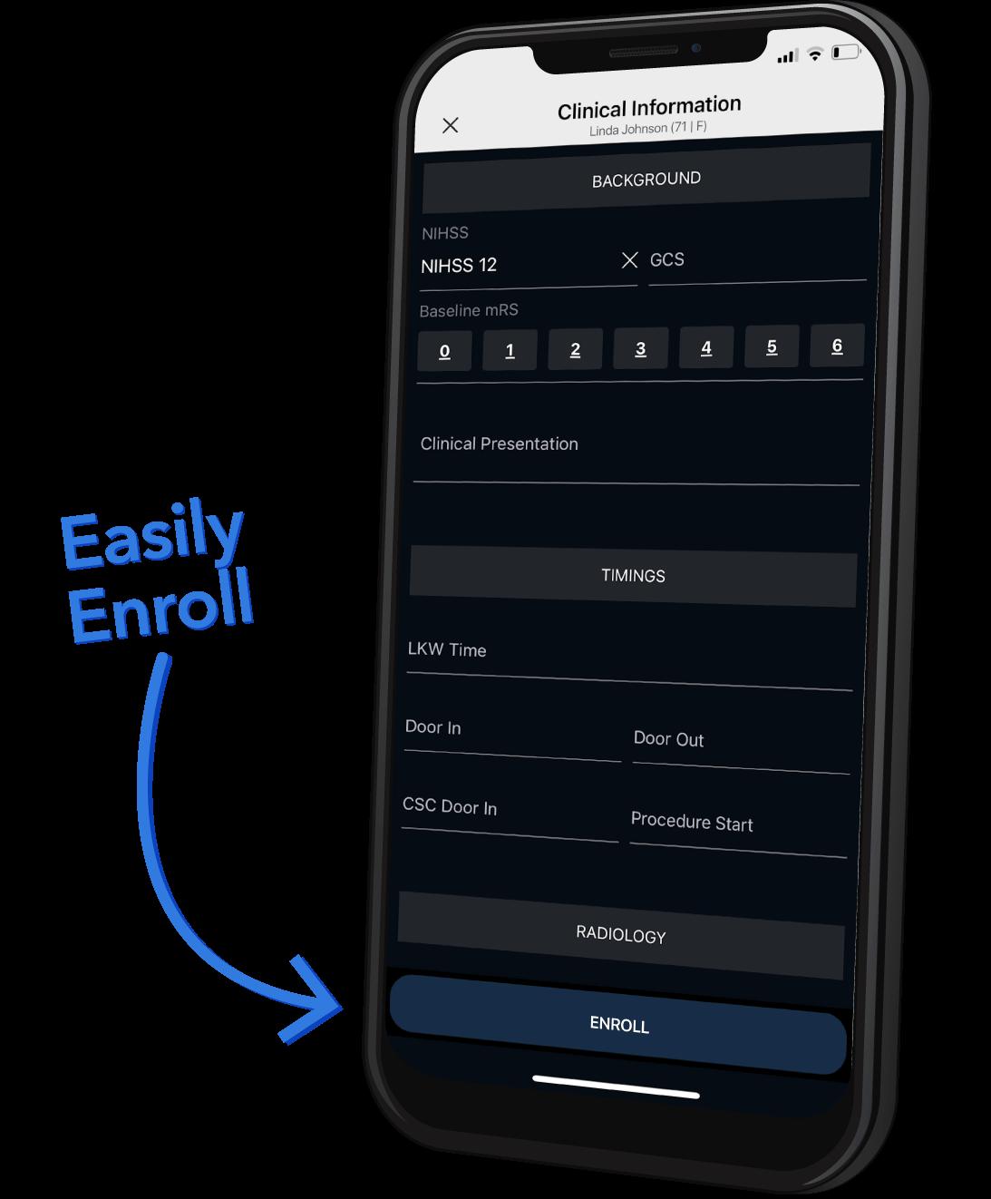 Viz Recruit enrollment form
