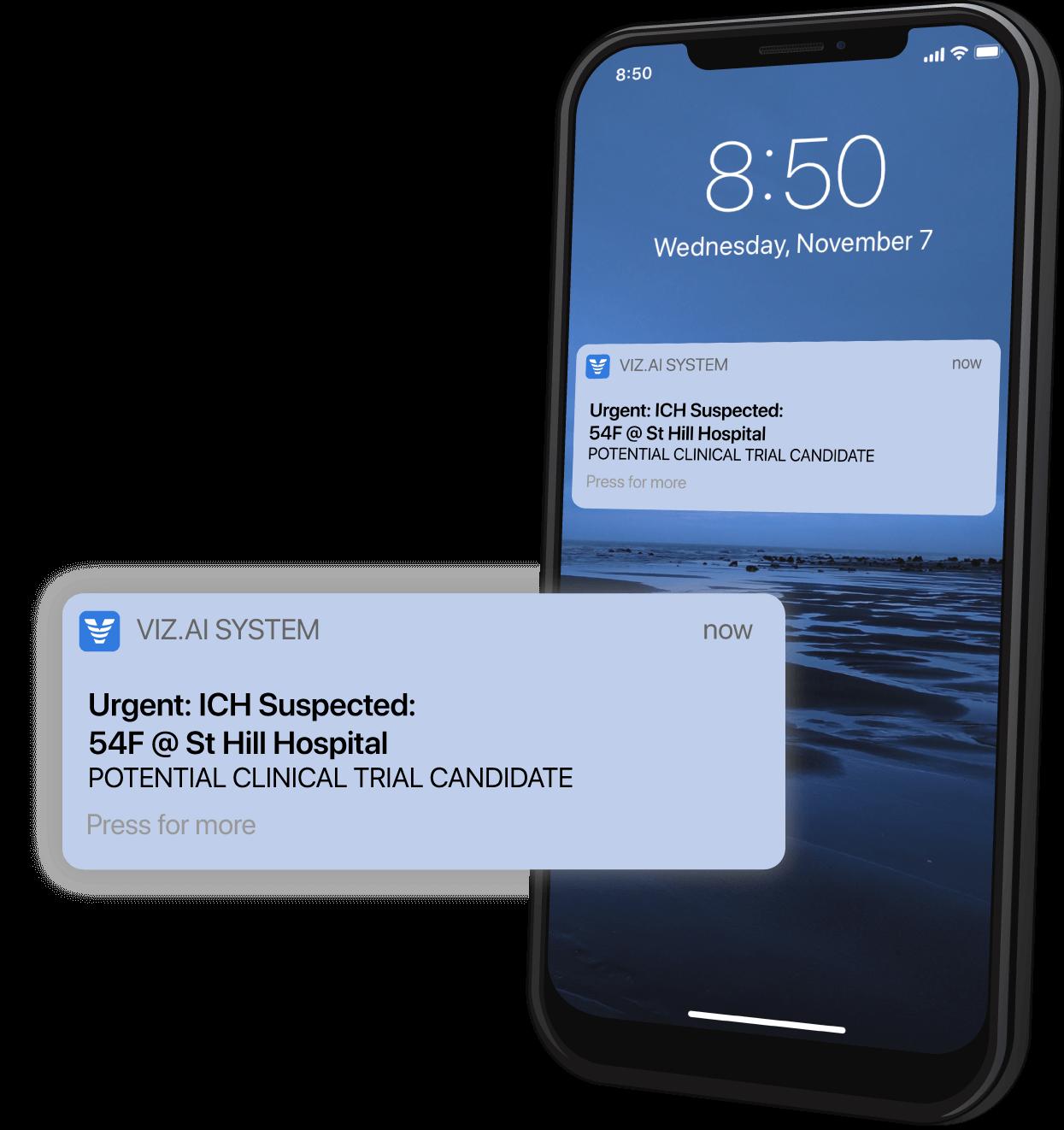 Viz Recruit Notification on Mobile Device