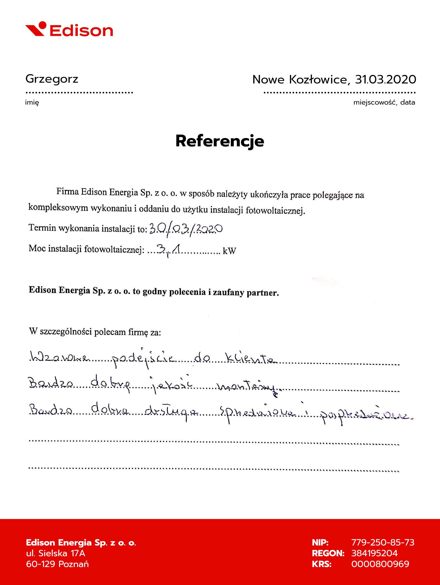 Fotowoltaika Nowe Kozłowice