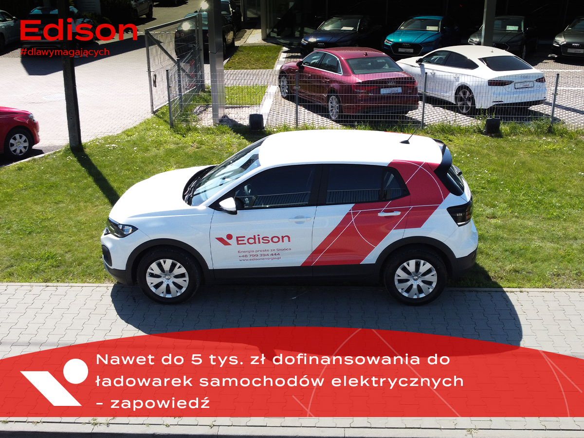 Dofinansowanie do ładowarek samochodów elektrycznych