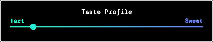 Taste profile is more tart than sweet