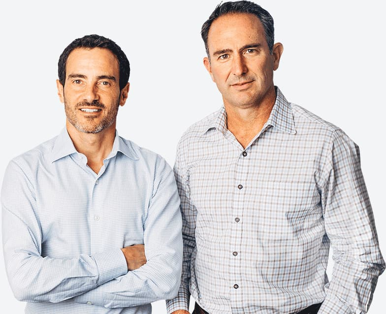 Doug Brien and Colin Wiel, Mynd co-founders