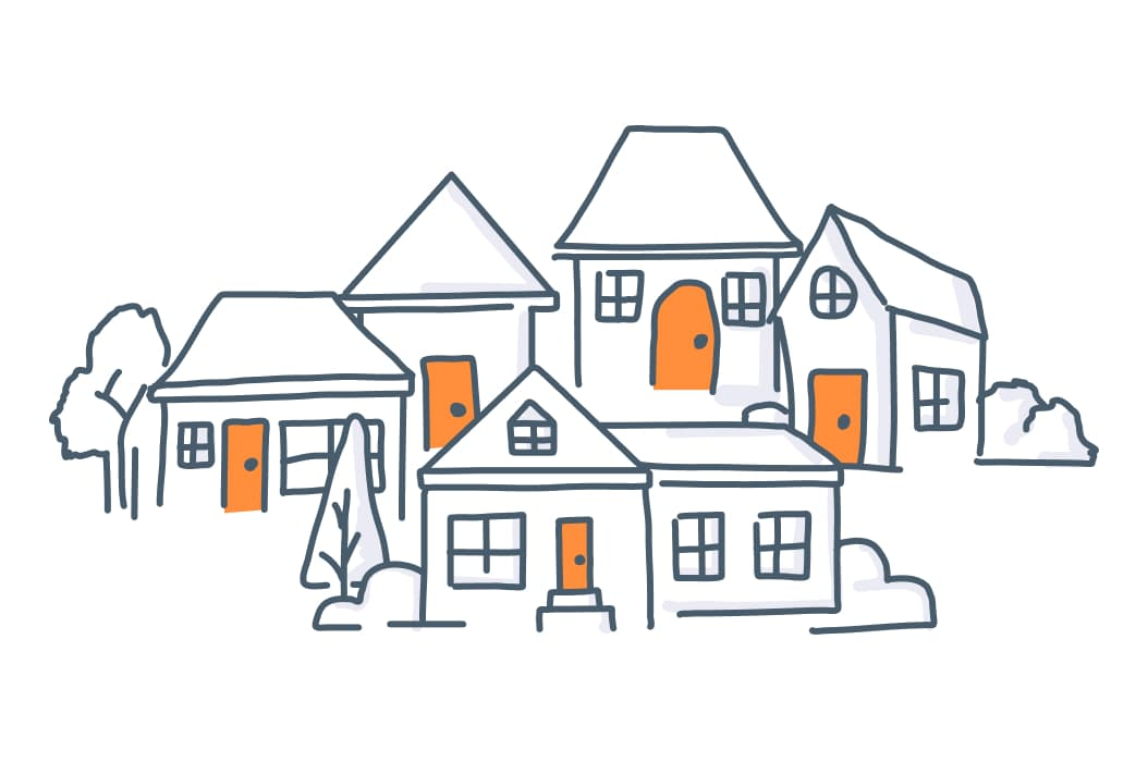 An illustration of a Mynd management rental property portfolio