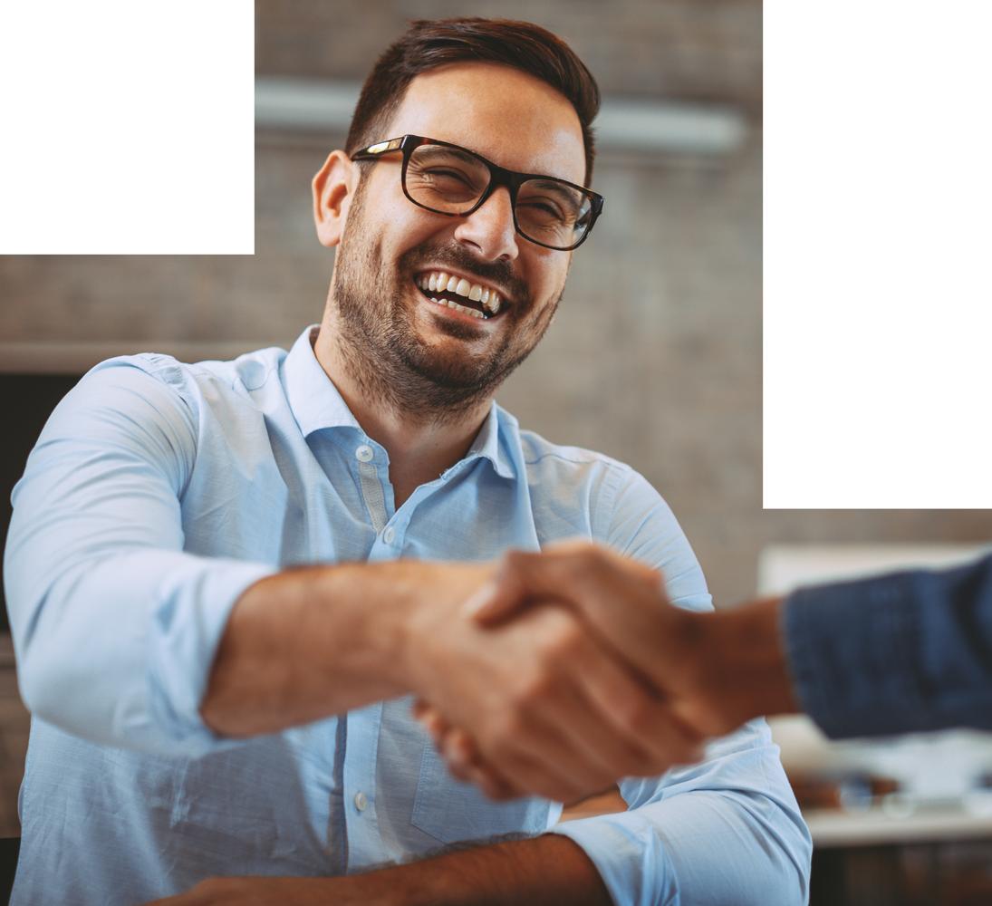 Mynd partners hand shake