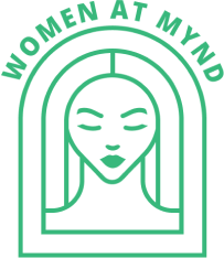 woman at mynd logo