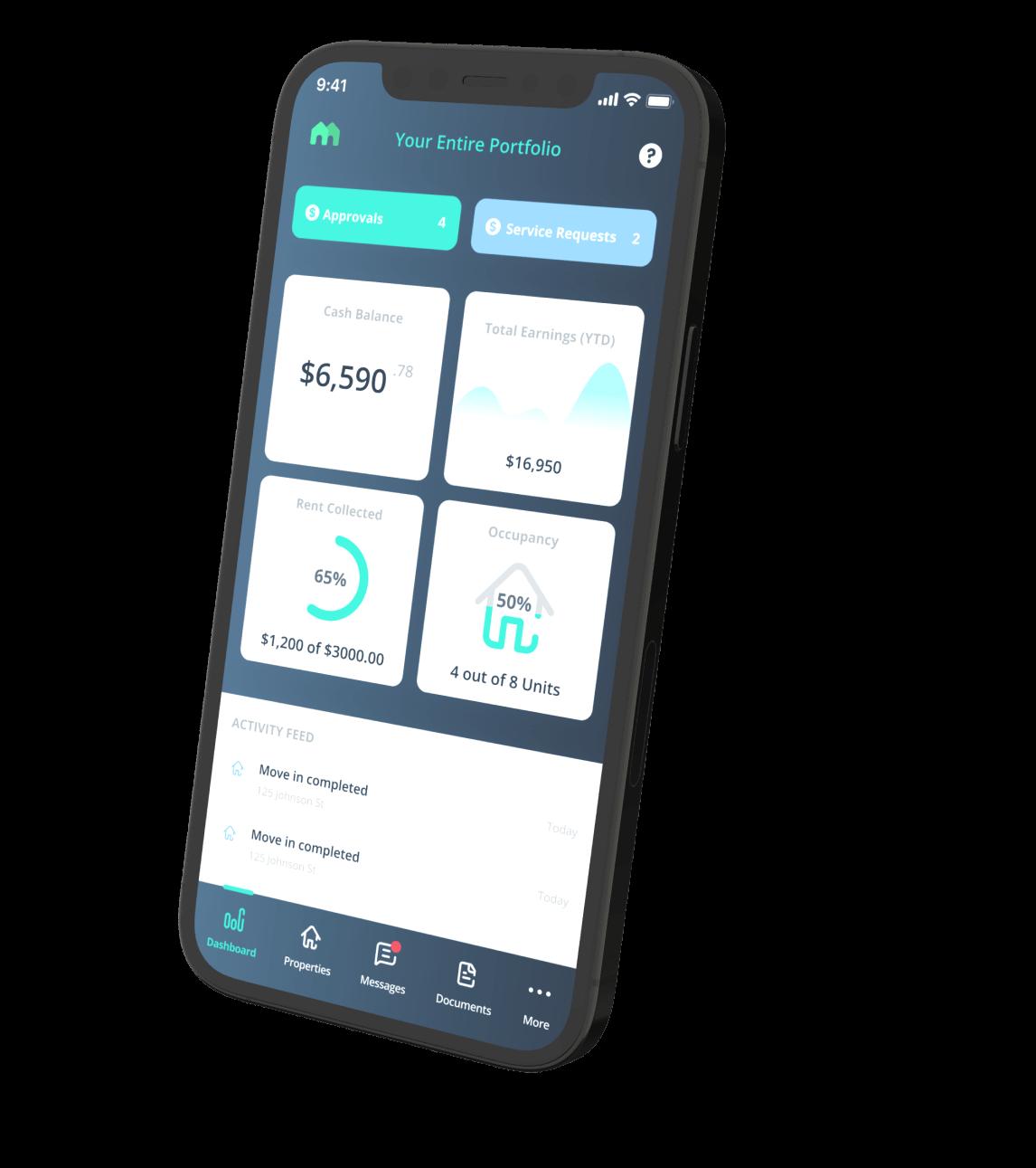 mynd owner mobile dashboard
