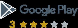 3 star google play rating