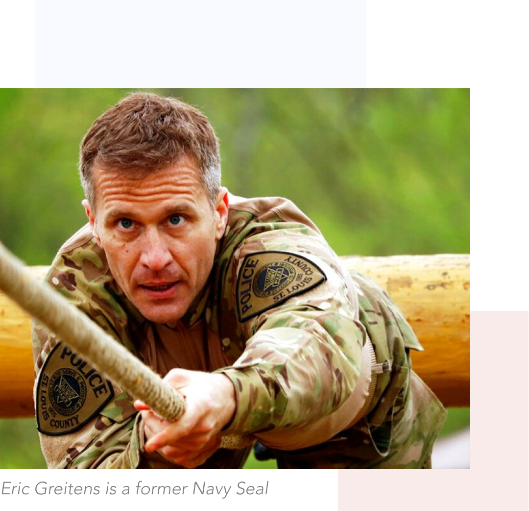 Eric Greitens is a former Navy Seal