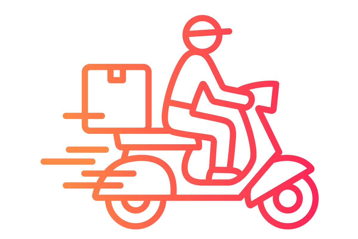 Restaurant digital menu delivery icon
