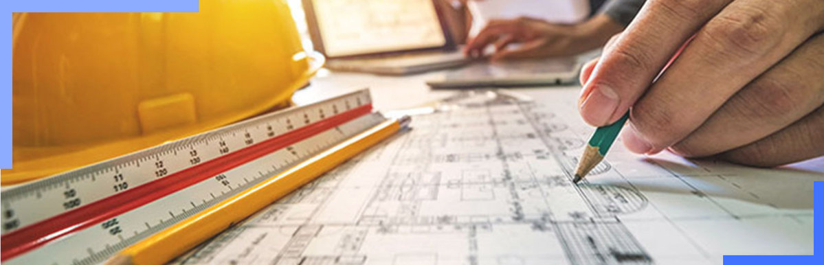 contractor estimating labor from blueprint square footage
