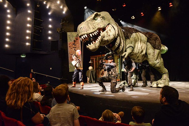 dinosaur world live performance at the wembley park theatre