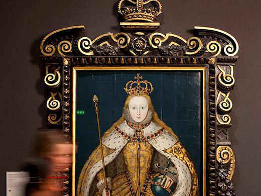 Portrait of a Tudor Queen in the National Gallery