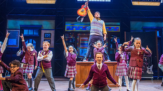 school of rock the musical on stage