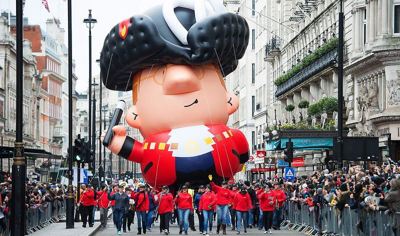 Mayor of London Balloon on New Year's Day